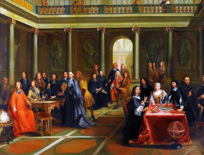 Descartes en la Corte de la Reina Cristina Pierre Louis Dumesnil. Museo nacional de Versailles.