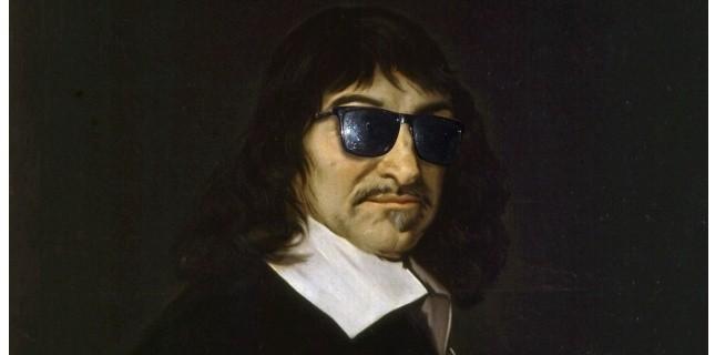 """Descartes, Algunos lo han llamado """"el filósofo enmascarado"""", por la prudencia con que supo ocultar sus ideas más radicales en tiempos de aguda intolerancia. En su juventud había adoptado el lema larvatus prodeo (1): """"Como un actor que se esconde tras una máscara"""", según explicaba."""