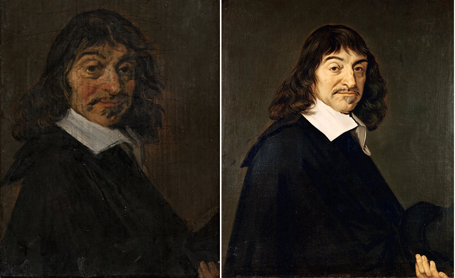 Hals's portrait was probably made speculatively after Descartes's death, when the old Hals lived in poverty. It is to be regarded as virtually a free creation of his imagination. He probably had no other basis than van Schooten's engraving.