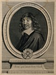 René Descartes. Line engraving by G. Edelinck after F. Hals