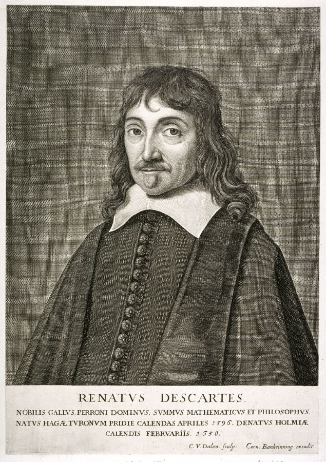 Cornelis van Dalen The Elder › Portrait of Rene Descartes (1596-1650)