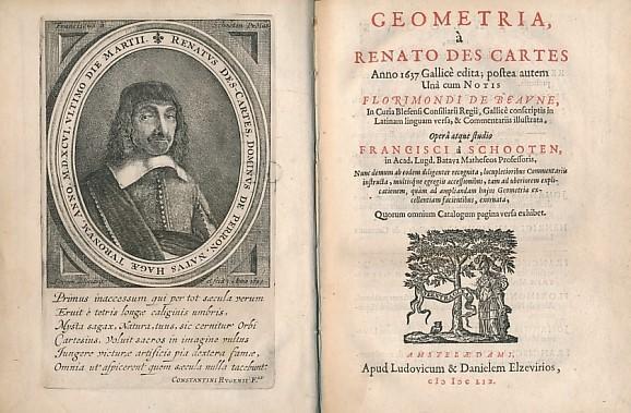 Geometria, à Renato Des Cartes Francisci à Schooten Amstelaedami apud Ludovic